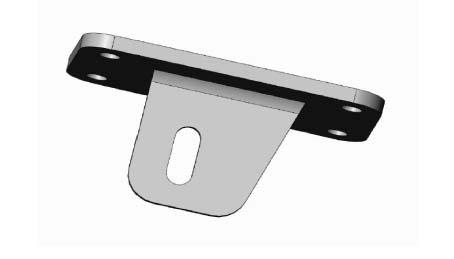 KTM 990 piastra fissaggio silenziatori